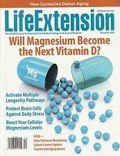 LIFE EXTENSION December 2016 -- Carnosine, Magnesium, Stress, Curcumin