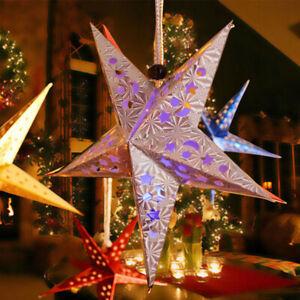 60cm Hanging Star Party Paper Lamp Shade Lantern Christmas Tree Decoration Star