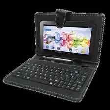 """Dfrnce DKB800 Funda y teclado universal para tabletas 8""""- negro"""
