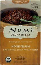 Numi Organic Tea Honeybush, Herbal Teasan, Caffeine Free - 18 Ct