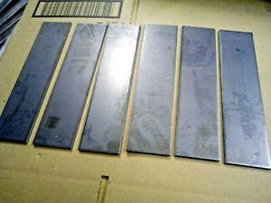 6x 200mm x 50mm x 4mm Mild Steel Plate Offcuts. Fabrication Welding