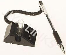DELISTAR COUNTER, TABLE, DESK COIL PEN 0.5 mm GEL INK RUBBER GRIP BLACK INK NEW