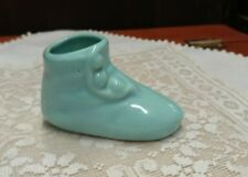 "Vintage Collectible Shoe,Aqua Mini Planter Or Vase, Pottery, Usa, 2 1/4"" T X 3"""