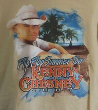 Kenny Chesney 2007 Flip Flop Summer Tour T-shirt Med Medium Country Music Tour
