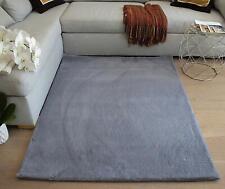 6'x9' Faux Rabbit Skin Bunny Skin Rabbit Hide Furry Cloud Color Area Rug Carpet