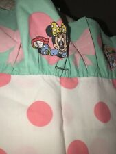 Disney Minnie Mouse Standard Vintage Pillowcase Polka Dots Pink Bedding Linens