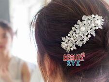 New Bridal Headpiece with Imitation Pearl Rhinestone hair barrette hair clip #12