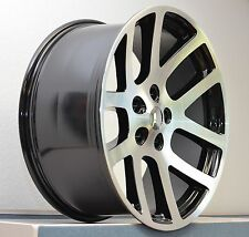 "22"" SRT10 Dodge Ram Laramie Hemi SRT Style Wheels Rims Machined Black 1500"
