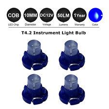 4x12V Blue T4 T4.2 Neo Wedge LED Cluster Instrument Dash Climate Base Light 10mm
