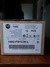Lot of 12 NEW Allen Bradley 1492- FB1C30-L 30A Class CC Fuse Holder w/Indicator