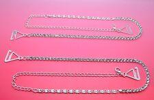 Bretelles de soutien gorge Bijoux cristal véritable pour robe de soirée, dos-nu