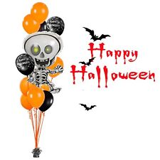 HALLOWEEN BALLOON SPOOKY SKELETON PARTY DECORATIONS BOUQUET FOIL  BALLOONS