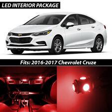 2016-2017 Chevrolet Cruze Red Interior LED Lights Package Kit