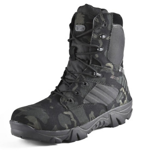 Camouflage Men Safty Shoes Desert Tactical Military Special Army Ankle Boots