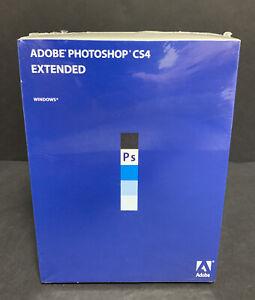 Adobe Photoshop CS4 Extended Retail Genuine Windows XP-7 Sealed USA
