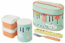 Skater Stainless Thermal Bento lunch box 560ml with Bag Moomin Forest from Japan