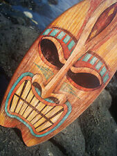 ANGRY TIKI GOD TROPICAL HAWAIIAN ISLAND SURFBOARD SIGN Beach Bar Wood Decor NEW