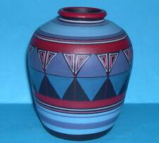 Portugal Studio Pottery - Attractive Decorative Abstract Multi-Colour Vase (M.M)