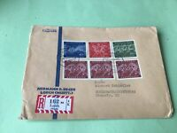 Germany 1960 Olympics Lorch Registered Offenbburg  stamps cover  52107