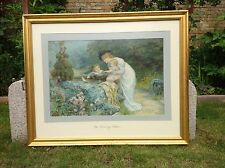 Gilt Picture Frame And Glass With Print Of The Coming Nelson By Frederick Morgan