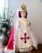 Infant of Prague Baby Jesus 26 inch Statue Handmade Jeweled Crown  Made in USA