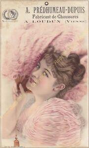 Kitschbild Werbung A.Prédhumeau Dupuis Hersteller Schuhe IN Loudun 1886 n3