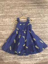 Jacadi Paris Girls Dress, Blue, 2Y/2T