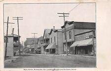 D10/ Rouseville Pennsylvania Pa Postcard c1910 Main Street Stores Mechanic St