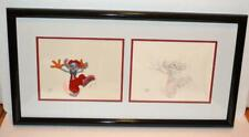 Walt Disney Roger Rabbit Mickey's 60th Bday Original Production Cel & Drawing