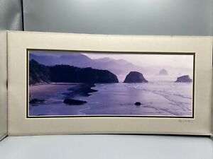 Ron Keebler Signed Photo of Oregon Beach Pacific Northwest Ocean Cannon