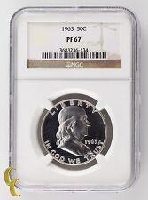 1963 Silver Proof Franklin Half Dollar 50C NGC Graded PF67