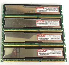 UMAX  16GB 4x4GB DIMM,DDR3-1333,256X8,CL9 1.5V COMPUTER RAM