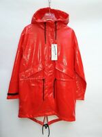 ZARA COAT FAUX PATENT LEATHER WATER RESISTANT RAINCOAT SIZE S-M