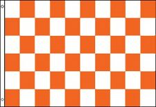 3'x5' Checkered Flag Orange & White Outdoor Indoor Banner Pennant Sports New 3X5