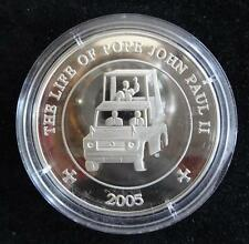 2005 SILVER PROOF SOMALIA 25 SHILLING COIN + COA POPE JOHN PAUL 11 1920-2005