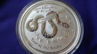2013 1/2 oz Silver Australian Year of the Snake Coin Bullion Half Australia