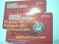 Coin card 2 euro 2011 Fs BE PP proof Portogallo Portugal Fernao Mendes Pinto