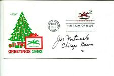 Joe Fortunato Chicago Bears 1963 NFL Champ Mississippi St Signed Autograph FDC
