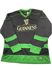 Guinness Beer Hockey Jersey Size Large Black