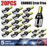 20X LED T10 501 194 W5W 7020SMD Car CANBUS Error Free Wedge Light Bulb White HID