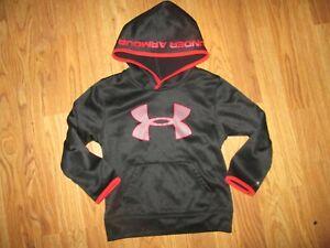 Boys UNDER ARMOUR  fleece lined hooded hoodie sweatshirt sz 5
