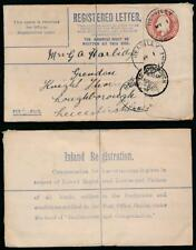 Gb Ke7 1909 Registered Stationery Heaviley Cheshire to Loughborough