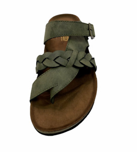 Cliffs by White Mountain Catelyn Womens Size 7.5 Green Sandals
