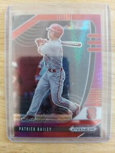 2020 Panini Draft Picks RED&PURPLE HYPER PRIZM PARALLEL Patrick Bailey #PDP13