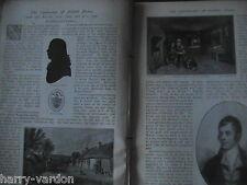 Robert Burns Centenary Rare Old Scottish Family History Illustrated Article 1896