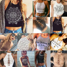 Fashion Women's Crop Top Sleeveless Summer Casual Tank Tops Vest Blouse T Shirt