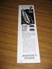 1978 Print Ad Johnson Silver Minnow Spoon Fishing Lures Angler Roland Martin