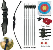 Youth Archery Recurve Bow Arrow Set Junior Beginner Outdoor Hunting Target