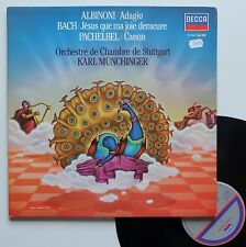 "LP Karl Munchinger Orch. Chambre de Stuggart  ""Albinoni/Bach/Pachebel"" - (TB/EX)"