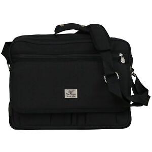 XXL Tasche Arbeitstasche Umhängetasche Studien Messenger Bag College Schwarz